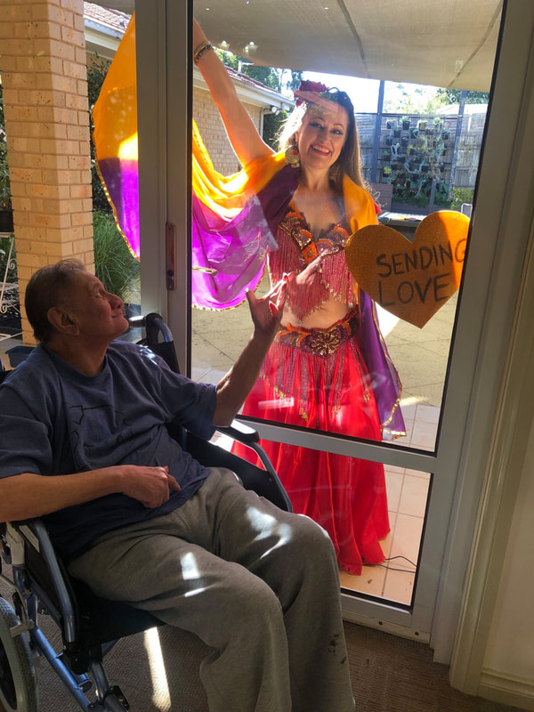 Window Therapy Belly Dance Show Aged Care Melbourne