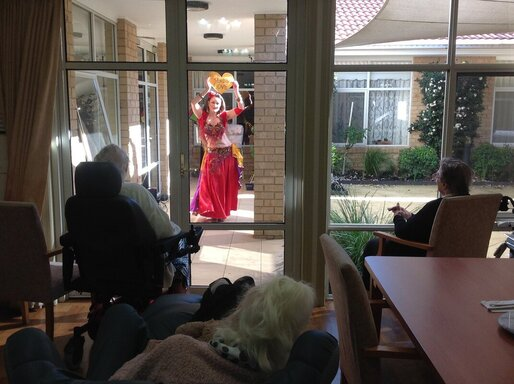 Belly Dance Window Shows or Window Therapy Melbourne